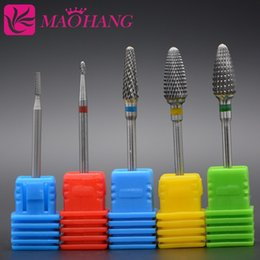 carbide nail bits NZ - eauty & Health MAOHANG Tungsten steel Carbide Nail Drill Bit Electric Manicure Drills Machine Accessories Milling Cutter File nail art To...