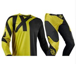 Breathable Motocross Gear Australia - MX 360 Preme Black Yellow Motocross Adult Kit Gear Jersey & Pant set 2019