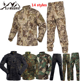 Discount airsoft clothing - Tactical Clothes Airsoft Army Combat Uniform Men Jacket & Pants Set Camouflage Outdoor Paintball Hunting Uniform Suit