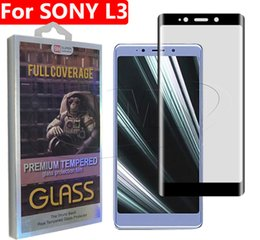 Glare Free Screen Australia - 3D Curved Full Cover Tempered Glass Phone Screen Protector For Sony Xperia L3 10 1 Xperia10 XA3 plus with retail package dhl free shipping