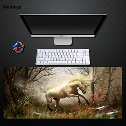 Wholesale Mairuige Forest White Unicorn Computer Comfortable Mouse Pad Game Special Anti slip Pad Game Accessory Desktop Keyboard