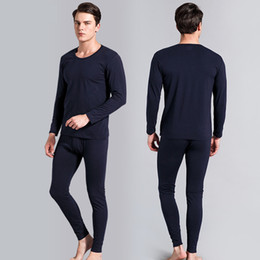 $enCountryForm.capitalKeyWord Australia - Men's Thermal Underwear Male Winter Warm Round Neck Thermo Long Johns Sets High Quality Men Combed Cotton Tops+pants 2Pcs Comfortable Suits