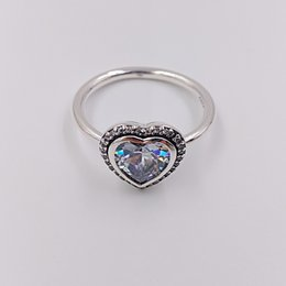 bfa099870 Authentic 925 Sterling Silver Rings Sparkling Love Ring Fits European Pandora  Style Jewelry 190929CZ