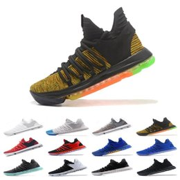 watch d3ed6 4e0cf Wholesale New Zoom KD 10 Mens Basketball Shoes Be True BHM celebration All  1 Star Multi color Igloo Oreo Designer Trainers Sports Sneakers