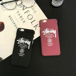 Iphone 5s Branded Cases Australia - Instagram Brand Fashion Popular Letter Print Phone Case for Iphone 5 5s se 6 6s 6 6splus 7 8 7 8plus Acrylic Plastic Dirt-resistant Case