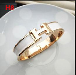 $enCountryForm.capitalKeyWord UK - Top Qualitys Designers Women &#919ERMES Enamel charm Bracelets Bangle H Letter Buckle High quality Bracelets Add dust bag and box