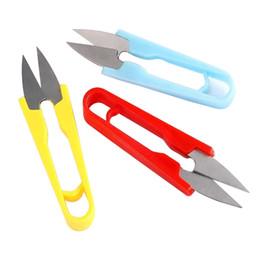 high carbon steel scissors 2019 - Multicolor stationery Scissors Nippers U Shape Clippers Steel High Quality Decorative Scissors Professional Tailor Sciss