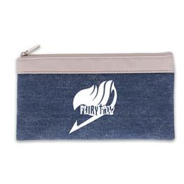 Pen Animations Australia - New Arrival Animation Fabric Blue Stuff Sacks Fairy Tail Cartoon Pen Bags Pencil Case Box