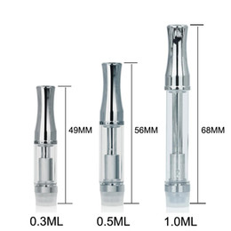 dry herb coil pen NZ - 92A3 Pyrex Glass CE3 Cartridges 510 Thread A3 Dual Coil Tank 92A3 Dry Herb Thick Oil Vape Pen for BUD Touch Battery
