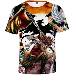 fairy tail prints UK - End t shirt Fairy tail short sleeve tops Etherious Natsu Dragneel tee Colorfast print gown Unisex all size clothing Quality tshirt
