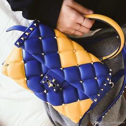$enCountryForm.capitalKeyWord NZ - High quality flap bag 7A Rock and stud Spik Compact Women messenger bags genuine leather lambskin clutch purses and handbags tote bolsa