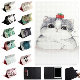 moto g wallet Australia - 3D Parint Cute Animal Dog Cat Universal Leather Wallet case for 7inch 8inch 10inch Tablet Samsung Galaxy Tab iPad Tablet