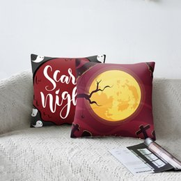 chairs skull Australia - Halloween Cartoon Skull Printed Cushion Cover Pumpkin Before 2019 Christmas Decorative Sofa Car Chair Home Decor Pillow Case New