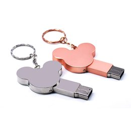 $enCountryForm.capitalKeyWord UK - ear USB flash drive fashion16GB 8GB 32GB 4GB 64GB silver metal pendrive flash memory stick pen drive usb stick disk hot sale