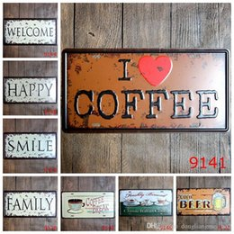 paintings coffee Australia - DLM2020 Beer coffee Vintage Craft Tin Sign Retro Metal Painting Antique Iron Poster Bar Pub Signs Wall Art Sticker(Mixed design) wn569 20pc