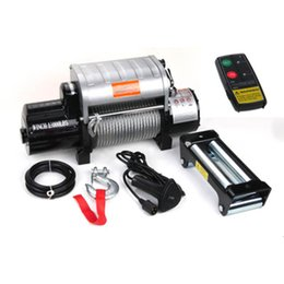 12v off remote Australia - Aluminum control box integrated 12v 24v 13000 pound off-road winch With wireless remote control