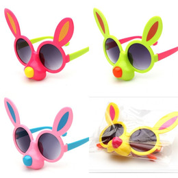 Cartoon Big Boys Australia - Cartoon Dog Nose Child Sunglasses Big Ear Glasses Boy Girl Outdoor Travel Spectacles Lovely Small And Exquisite Pink Blue 2 9ol C1