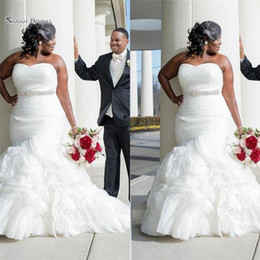6831acd394 2019 Sexy Mermaid Plus Size Sweetheart Tulle Wedding Dresses With Beads Bridal  Gowns Maxi Dress Hot Sales