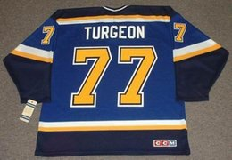 $enCountryForm.capitalKeyWord Australia - PIERRE TURGEON St. Louis Blues 1999 CCM Turn Back Home Hockey Jersey All Stitched Top-quality Any Name Any Number Any Size Goalie Cut