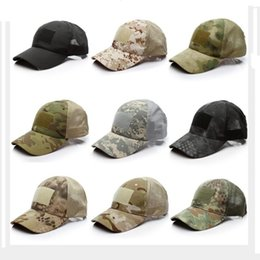 Special Forces Caps NZ - Summer Outdoor Camouflage US Army Tactic Mesh Baseball Caps Digital ACU Special Force Green Snapback Hat Outdoor disguise Caps