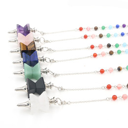 Pendants Green Amethyst Australia - Women's fashionable Amethyst double-deck inverted pendant gyro Necklace Pendant