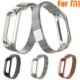mi band xiaomi strap 2020 - 2018 Hot Sale High Quality Fashion Milanese Magnetic Loop Stainless Steel Watch Band Strap For Xiaomi Mi Band 3 Gift che