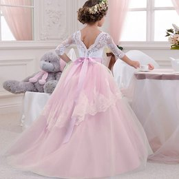 $enCountryForm.capitalKeyWord Australia - Children Braidsmaid Girls Dress Kids Flower Girls for Wedding Autumn Summer Ball Gowns For Party Performance Ceremony Costume Kids Clothes