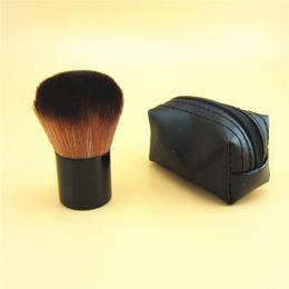 $enCountryForm.capitalKeyWord Australia - HOT Makeup Short Handle Metal Bottom Mushroom Brush M 182 rouge brush \blusher brush+Leather bag free shipping
