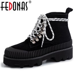 $enCountryForm.capitalKeyWord NZ - FEDONAS New Concise Lace Up Short Boots Genuine Leather Canvas Women Ankle Boots Autumn Winter Basic Party Office Shoes Woman