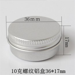 Metal Spice Jars Australia - Free shipping 100pcs 10G Aluminum Jar Tin Pots 10cc Metal Cosmetic Packaging Container 1 3oz professional cosmetics container