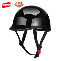 $enCountryForm.capitalKeyWord Australia - AMZ Retro Motorcycle Helmet Half Face Casco Moto Helmet German Style Vintage Motorbike Casque Scooter Chopper Motorcycle