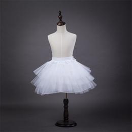 $enCountryForm.capitalKeyWord Australia - New Arrival Children Petticoats for Flower Girl Dress 3 Layers No Hoop White Red Black Short Children Crinoline Girls Kids Child Underskirt