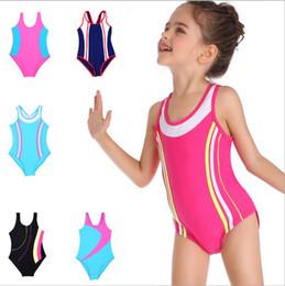 08aec63ffdbdd Kids Swimwear Girls Professional Swimsuit Train Race Surf Suits Striped  Sport Swim One-Pieces Bikini Rompers Bathing Suits Beachwear B5570