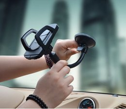 long arms mobile phone holder NZ - Newly Long Arm Windshield mobile Cellphone Car Mount Bracket Holder for mobile phone Stand for iPhone GPS MP4 (Retail)