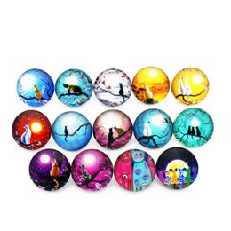 $enCountryForm.capitalKeyWord Australia - 20pcs lot 18mm cat dragonfly horse Glass Snap Buttons Charms Fit Snap Bracelet Necklace DIY Jewelry E mail treasure