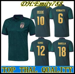 football italy NZ - European Cup 2020 italy third soccer jersey 19 20 Italy maglie da calcio Verratti Jorginho Romagnoli Immobile Chiesa Bonucci football shirts