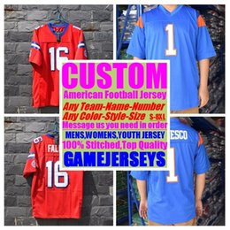b145e9631 Custom college american football jerseys mens womens youth kids soccer  rugby stitched authentic jersey 4xl 5xl 6xl 7xl 8xl athletic clothing