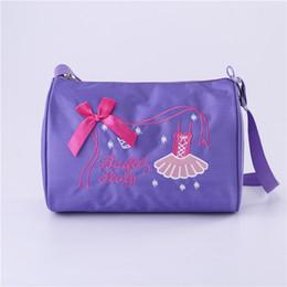 $enCountryForm.capitalKeyWord Canada - Kids Girls Fashion Adorable Ballet Tutu Dance Bag Embroidered Ballerina Dancing Duffle Bag Handbag Shoulder