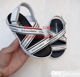 korean kids sandals 2019 - 2019 New Kids Leather Sandals Korean Edition Summer Children s Soft-soled Anti-skid Sandals Baby Sandals 3-8 Years Old Q