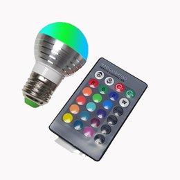 Objective E27 E14 110v 220v 85-265v Rgb Led Bulb Night Light Lampara Led 16 Colors Bulb Home Decor Lighting 24key Remote Control Holiday Light Bulbs