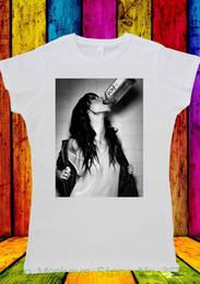 $enCountryForm.capitalKeyWord NZ - Women's Tee Drunk Girl Drinking Wine Tumblr T-shirt Men Women Unisex 1445 European Style Hip Hop S Xl