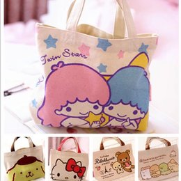 Little Twin Stars Hello Kitty Bag Lunch Bag For Kids Women Lunch Bags  Thermal Canvas Bags mujer bolsa picnic almuerzo L07 4c6d05f95f1a8