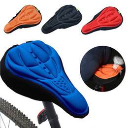Cycle Gel Seat Australia - Cycling Bike Saddles 3D Comfortable Silicone Gel Seat Cover Cushion Soft Bicycle Pad Mountain Bike Parts Acessories