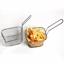 French Cooking Tools Australia - Chips Mini Fry Baskets Stainless Steel Fryer Basket Strainer Serving Food Presentation Cooking Tool French Fries Basket