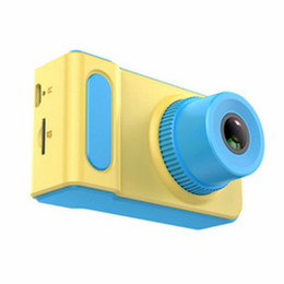 card lcd screen Canada - Kids Cameras HD 2.0 inch LCD Display Supports 32GB Memory Card Photo Mode 200,000 Pixels Video Recording DHL free