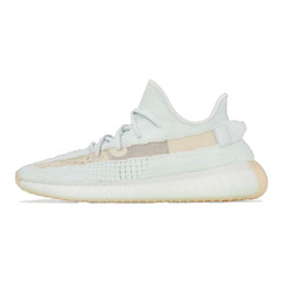 low cut mens brown boots 2019 - 2019 Authentic Kanye West Boots Clay Orange Running Shoes Mens Women Sport Sneakers Zebra Cream Whtie Bred Butter With O