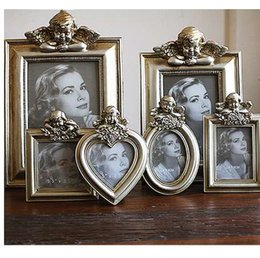 Discount hot dress japanese - Hot Selling Newest 3.5-inch 6-inch 7-inch European Retro To Do The Old Angel Golden Photo Frame for The Wedding Dress Ho