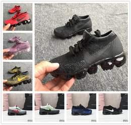 BaBy train shoes online shopping - 2019 baby kid Knitting Portable Kids Running Shoes Children cushion Sports Shoes Boys Girls Training Sneakers