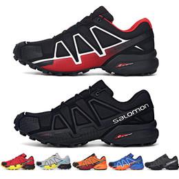 Lace cross online shopping - 2019 Salomon Speed Cross IV CS black blue orange red Walking Shoes Breathable Man Athletics Mesh Jogging Shoes sports sneaker eur