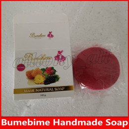 natural face masks for acne Canada - Bumebime Handwork Whitening Soap with Fruit Essential Natural Mask White Bright Oil Soap free shiping DHL
